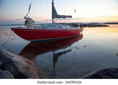 A calm midsummer evening in the Swedish archipelago