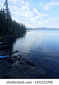 Calm morning at Waldo lake in Oregon