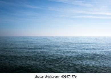 Calm sea and blue sky background, Greece