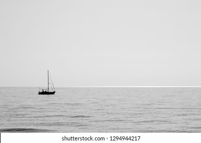 Calm sea with boat