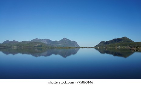 Calm summers day on the Lofoten islands