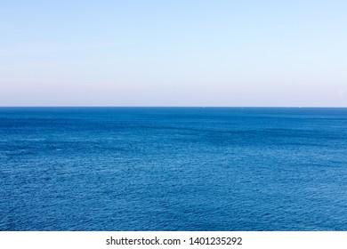 Calm water in blue sea