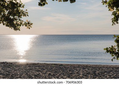 Calm water by the beach at the swedish island Oland in the Baltic Sea