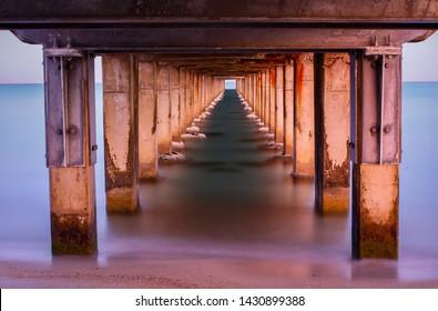 Calm water under Dromana Pier