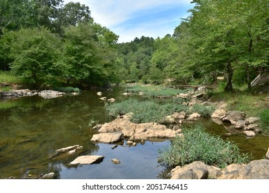Calm waters and lush greenery in Eno River State Park