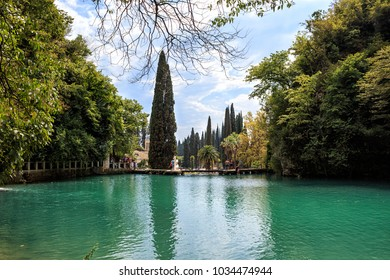 A Calming Landscape: The Beautiful Lake Psyrtsha in Novy Afon, Abkhazia