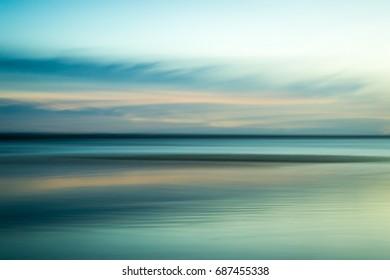 Calming, serene ocean abstract