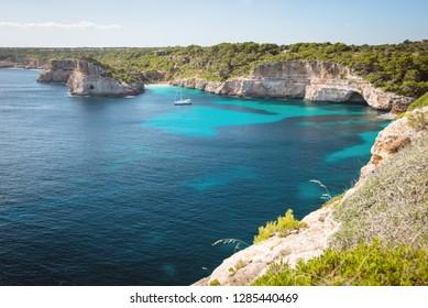 Calo des Moro beach view on Mallorca island, Spain
