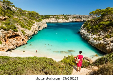 Calo des Moro, Mallorca. Spain.  One of the most beautiful beaches in Mallorca.