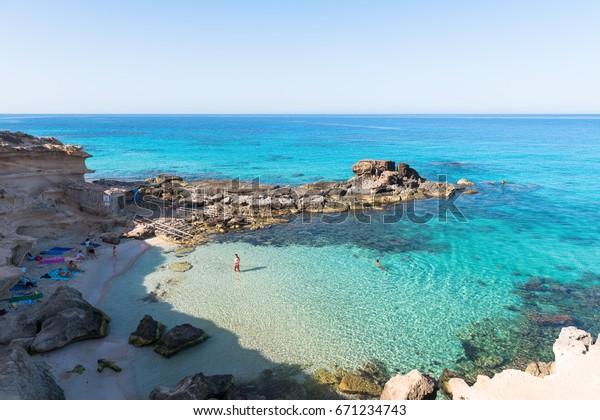 Calo des Mort in Formentera, Spain