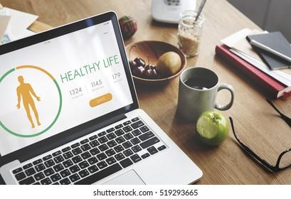 Calorie Counter Health Diet App Concept
