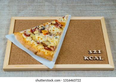 calorie pizza 321 kcal 100 grams diet