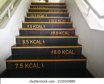 calories counting at Staircase in a office straight for awareness employees to exercises