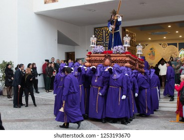 Calpe/Spain-March 15 2017 :Eastern procession on the Calpe street Spain