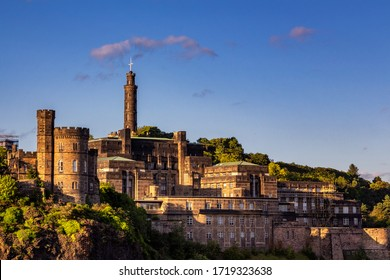Calton Hill and Nelson monument