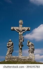 Calvary crucifixion sculpture in Croatia