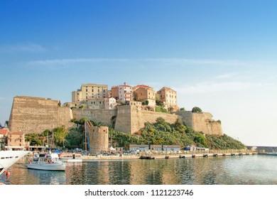 CALVI, CORSICA, FRANCE - September, the 13, 2016: the ve at the Citadel in Calvi - coastal town on the island of Corsica (Corse), France