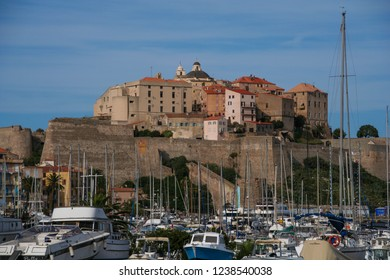 CALVI/ CORSICA, FRANCE. SEPTEMBER, 13TH, 2013. Old Genoese fortress where Christopher Colombus was born.