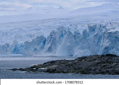 Calving glacier front at Stonington Island, Antarctica
