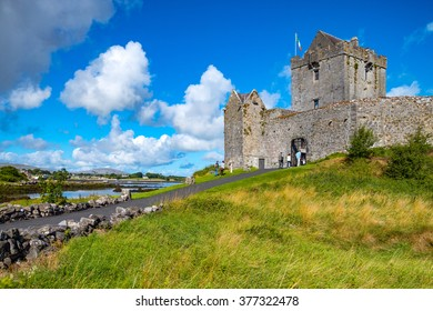 Calway, Ireland - August 4, 2013:  The Dunguaire castle