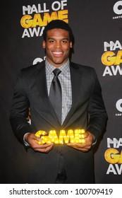 Cam Newton at the Cartoon Network Hall of Game Awards, Barker Hangar, Santa Monica, CA 02-18-12