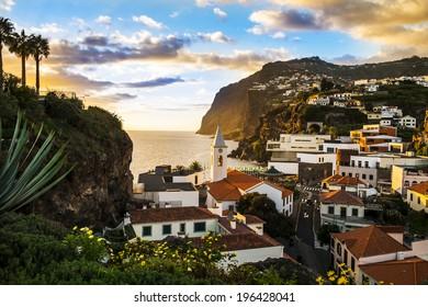 Camara de Lobos, small port on the island of Madeira.