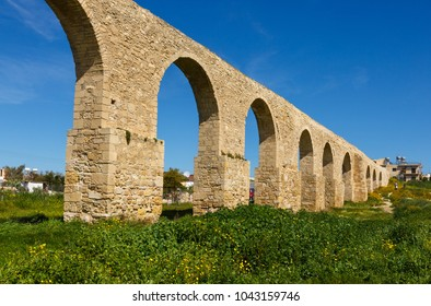 Camares aqueduct in Larnaca, Cyprus