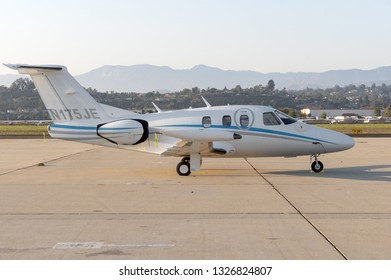 CAMARILLO AIRPORT, CA/USA - AUGUST 21, 2016:   Eclipse Aerospace EA500 aircraft with registration number N175JE shown on the tarmac.