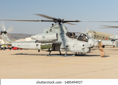 CAMARILLO AIRPORT, CA/USA - AUGUST 21, 2016:  Bell AH-1Z Viper shown taking off.