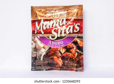 Camarines Sur, PHILIPPINES - JAN. 27, 2017. A close-up photo of Mama Sita's Adobo Savory Sauce Mix by Mama Sita from the Philippines