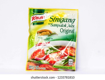 Camarines Sur, PHILIPPINES - JAN. 27, 2017. A close-up photo of Knorr Sinigang sa Sampalok Mix, Tamarind Soup Mix by Knorr in the Philippines