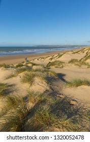 Camber Sands East Sussex UK a beautiful sandy beach near Rye and Hastings