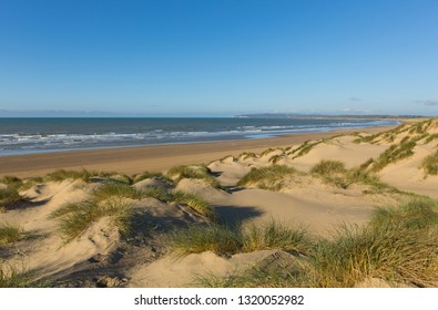 Camber Sands sandy beach East Sussex UK near Rye and Hastings