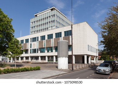 CAMBERWELL, UK - APRIL 22, 2018: Outside view of Camberwell Green Magistrates' Court in London.