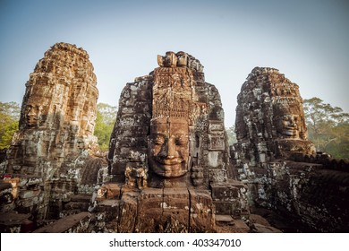 CAMBODIA. ANGKOR WAT -  MARCH 14/2016: Panoramic view of the Angkor Wat Temple. March 14, 2016
