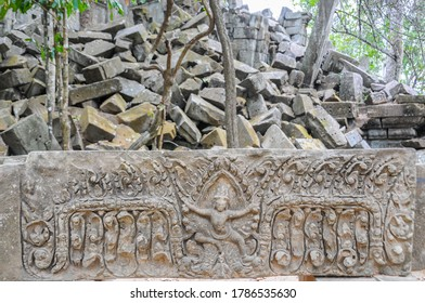 Cambodia: Beng Mealea is an 11th century, unrestored Khmer temple with raised walkways for visitors to view the complex.