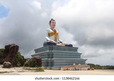 Cambodia. Monument to Lok Yeay Mao. Mountain Bokor. Kampot city. Kampot province.