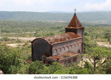Cambodia. Old French Church. Mountain Bokor. Kampot city. Kampot province.
