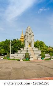 Cambodia, Phnom Penh, Wat Preah Keo Complex, Stupa Kantha Bopha