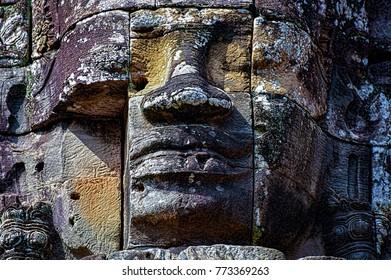 Cambodia Temple Face