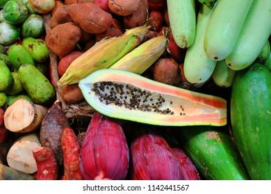 cambodian colerful fruit
