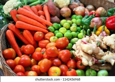 cambodian colerful vegitables