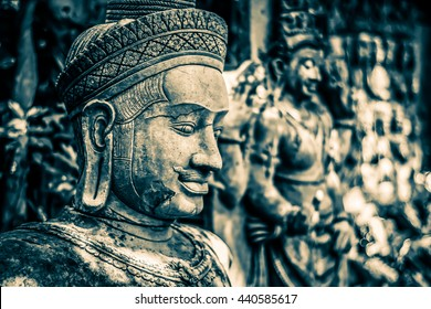 Cambodian gods idol statue