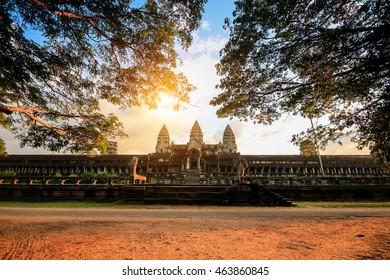 Cambodian landmark Angkor Wat,, Siem Reap, Cambodia