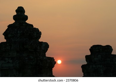 Cambodian Temple Sunset