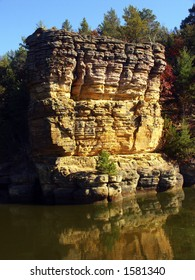 Cambrian sandstone rock in Wisconsin Dells