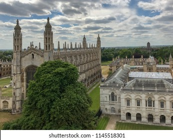 Cambridge, Cambridgeshire / England - June 4 2017: View of Kings College chapel in Cambridge