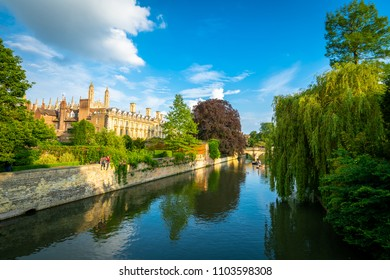 Cambridge city on the River Cam, England