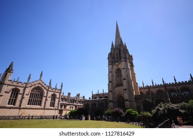 Cambridge, England - 25 June 2018 : A View of Cambridge in a beautiful sunny day,