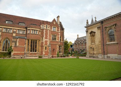 Cambridge, England – September 30, 2018: Pembroke College, Cambridge, United Kingdom, Europe